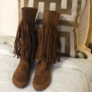 A.X.N.Y moccasin boots.
